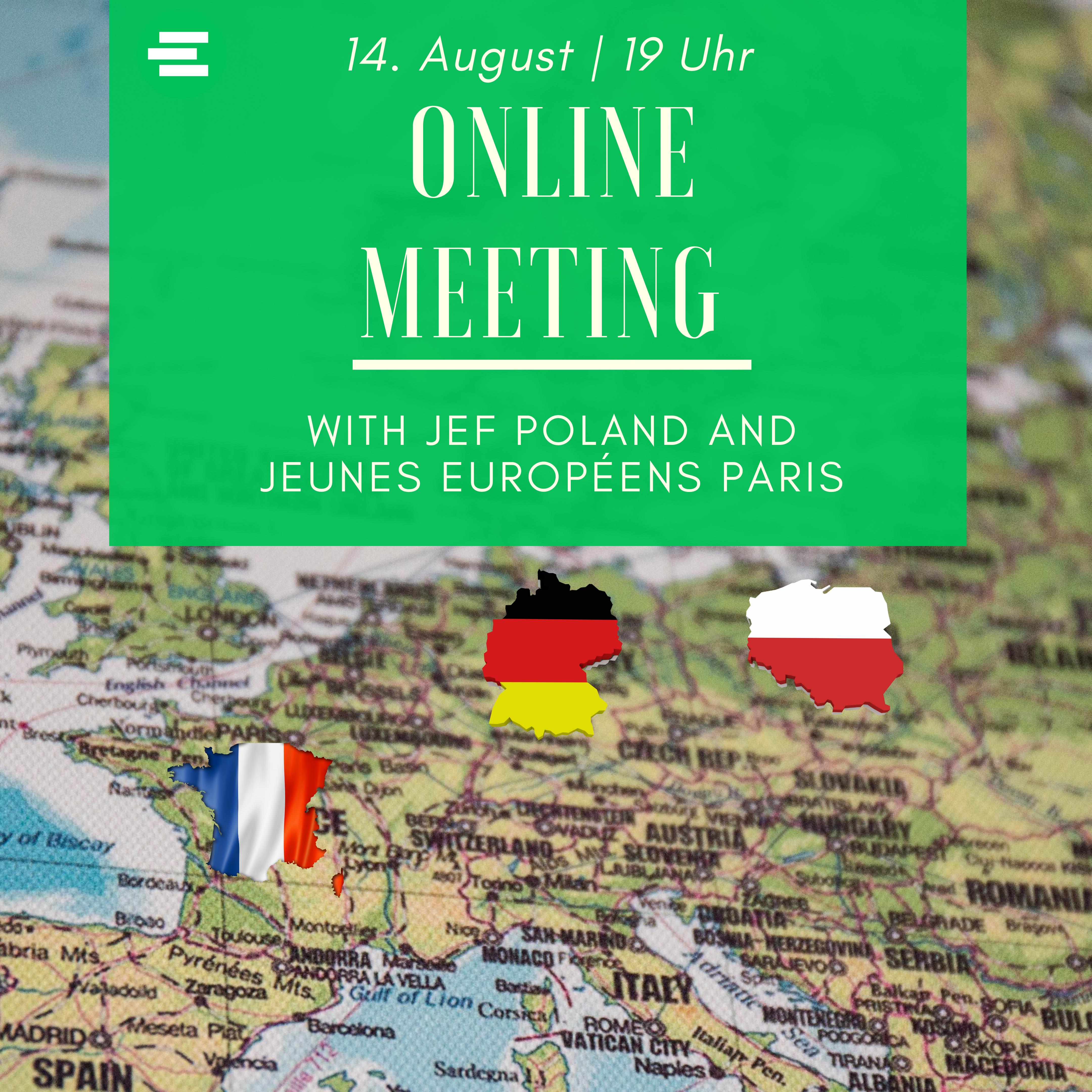 Online Meeting mit der JEF Polen und den Jeunes Européens Paris
